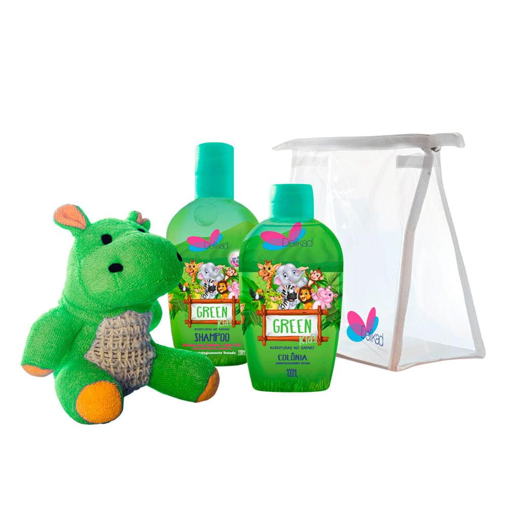 Kit Safari Hyppo Green Kids Delikad