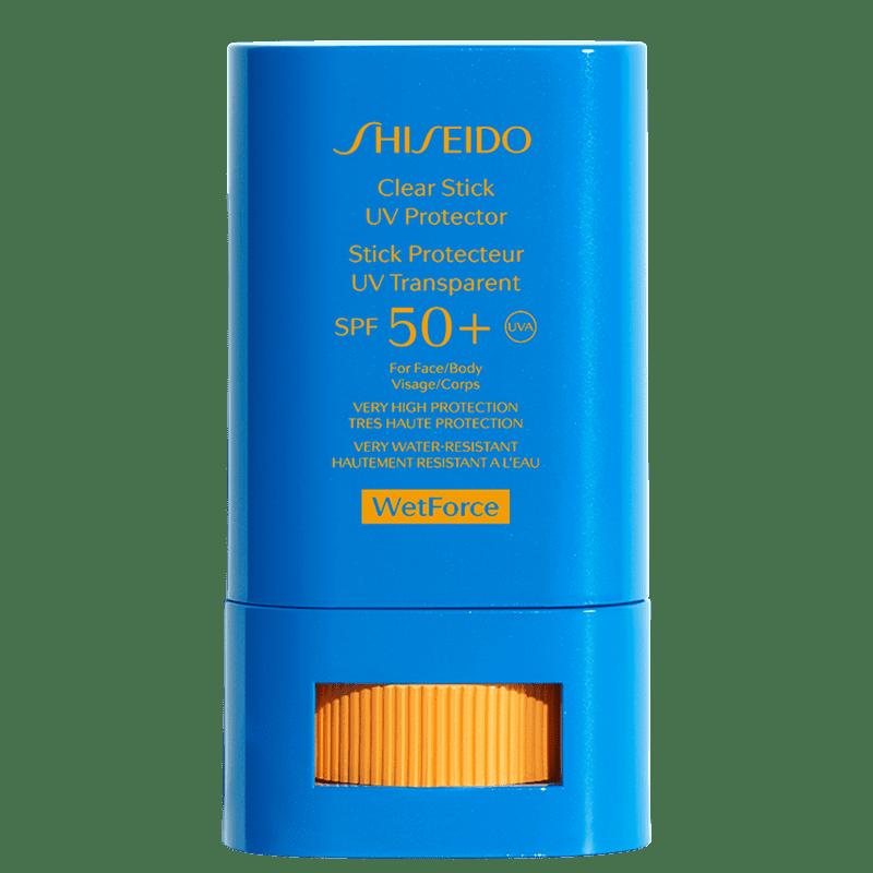 Protetor Solar em Bastão Clear Stick UV Protector SPF 50+ WetForce Shiseido 15g