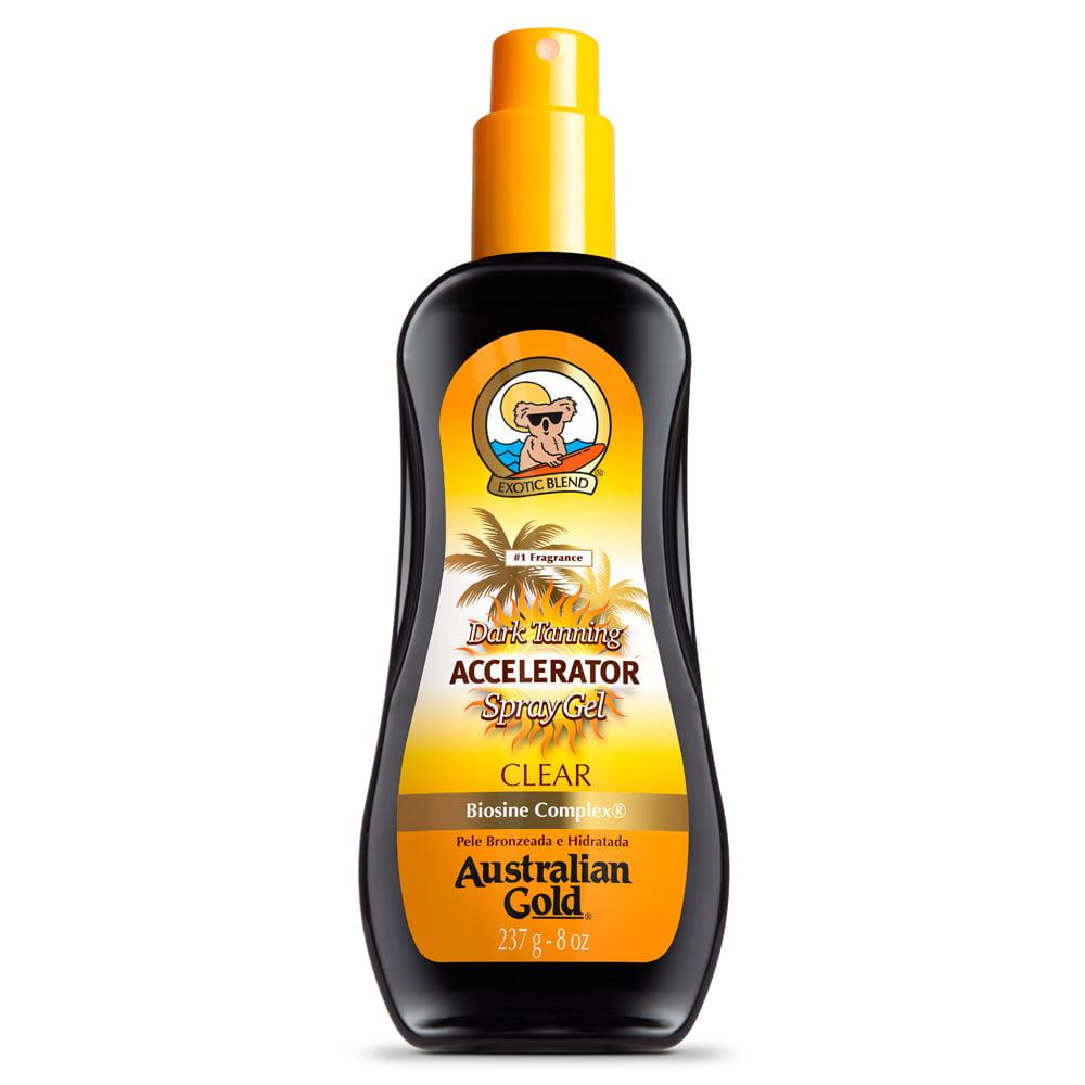 Spray Gel Acelerador de Bronzeado Dark Tanning Accelerator Clear Australian Gold