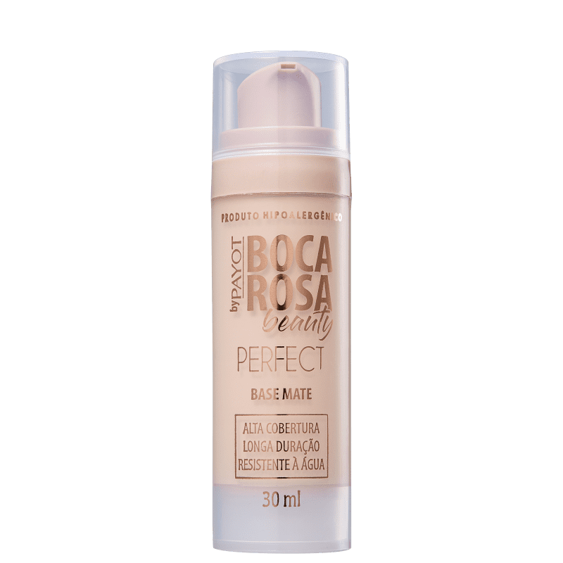 Base Líquida Matte Perfect Boca Rosa Payot 30ml