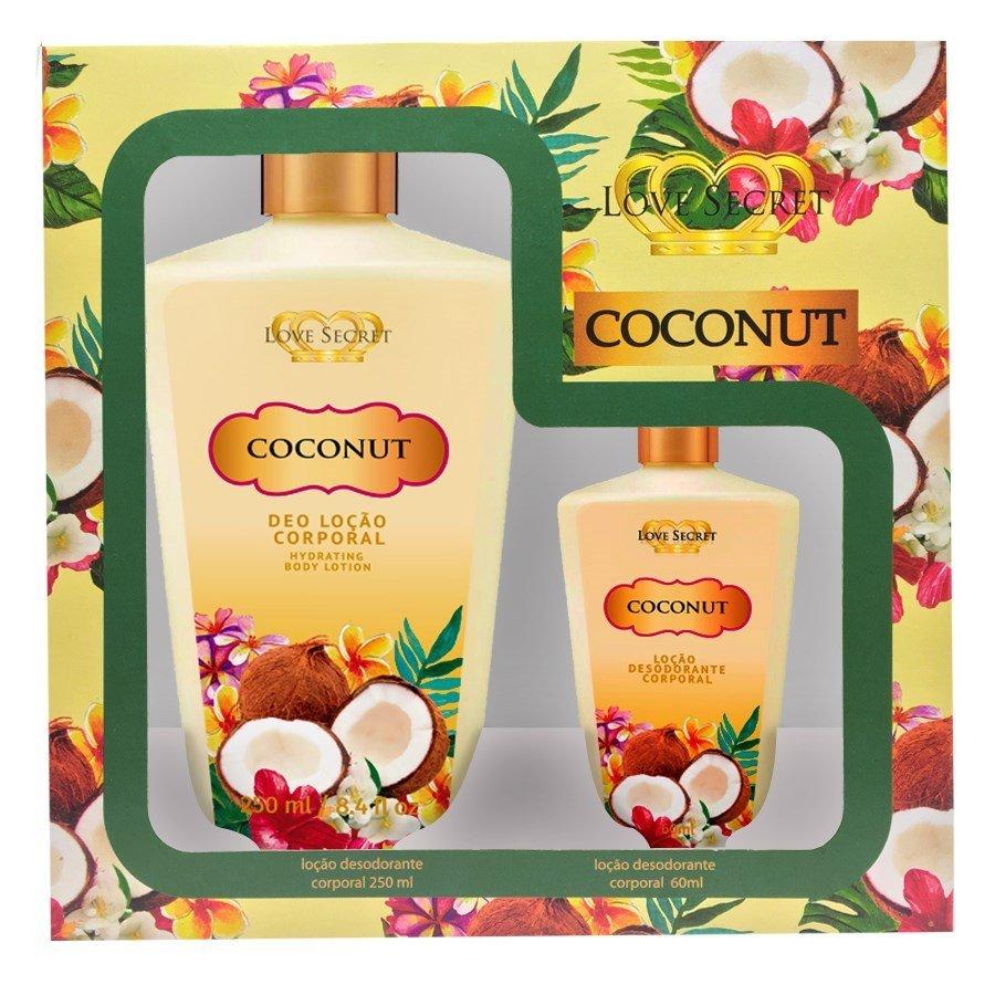 Kit de Hidratantes Coconut 250ml + Hidratante Coconut Love Secret 60ml