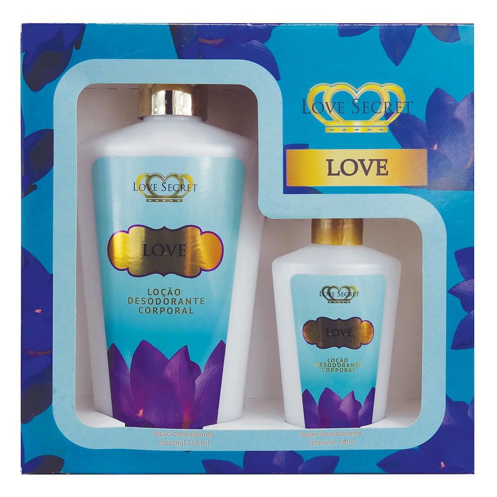 Kit de Hidratantes Love 250ml + Hidratante Love 60ml Love Secret