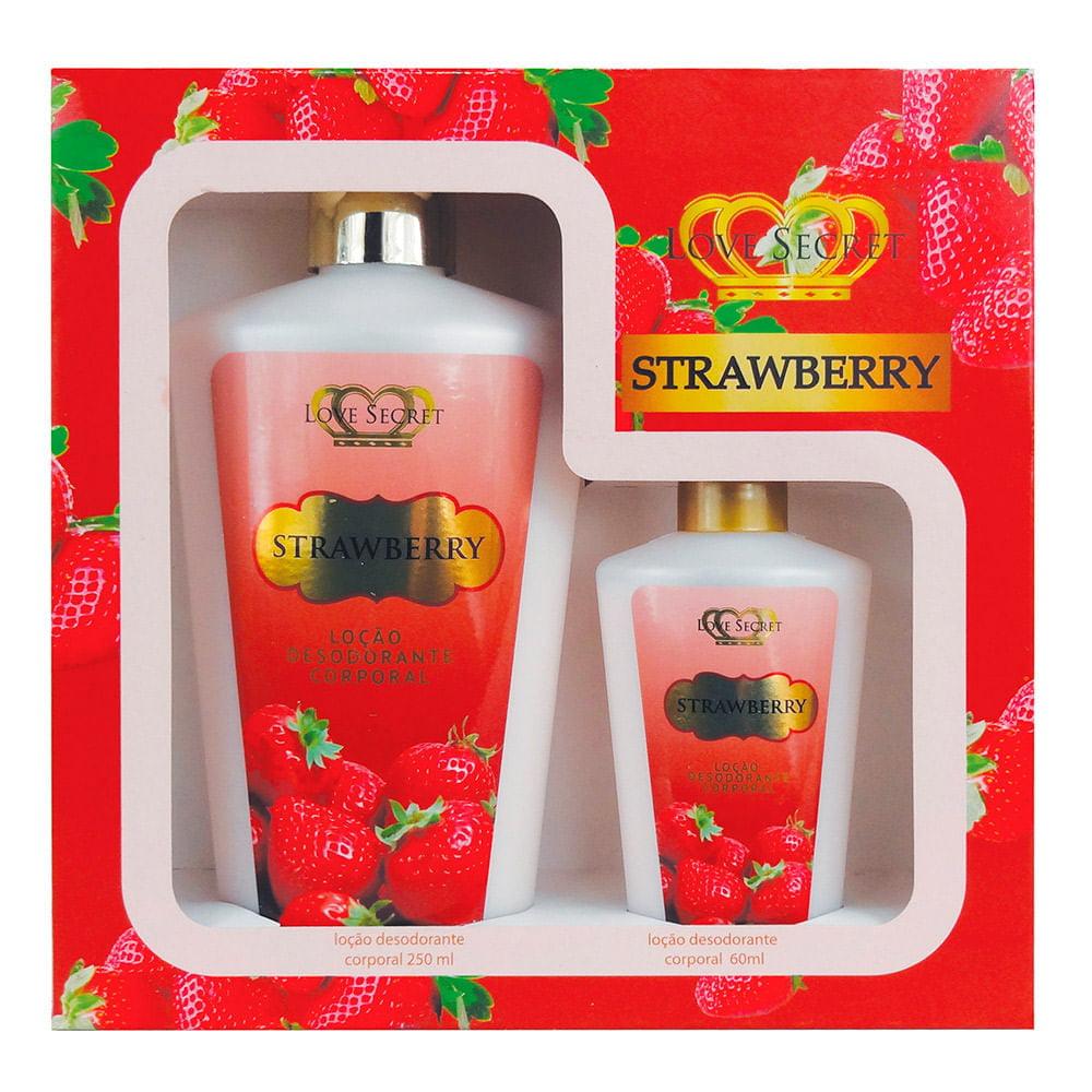 Kit de Hidratantes Strawberry Love Secret
