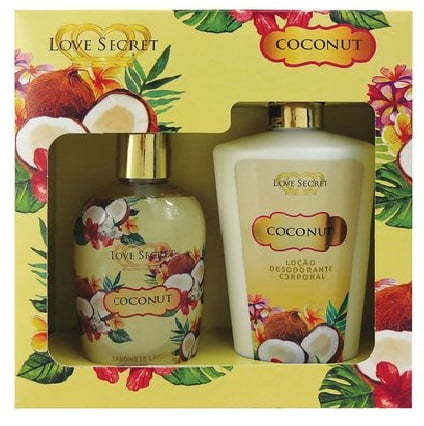 Kit Feminino Hidratante Coconut + Sabonete Líquido Coconut Love Secret