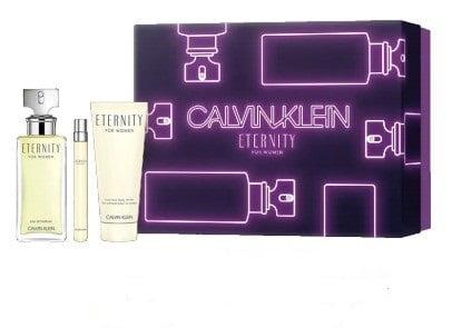 Kit Feminino Perfume Eternity for Woman Eau de Parfum + Caneta Spray Eternity + Body Lotion Eternity Calvin Klein