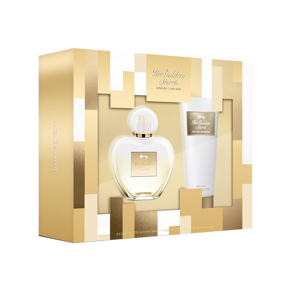 Kit Feminino Her Golden Secret Antonio Banderas
