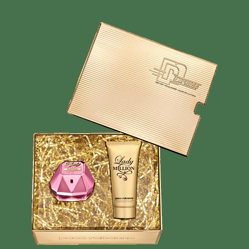 Kit Feminino Perfume Lady Million Empire Eau de Parfum + Loção Corporal Lady Million Paco Rabanne