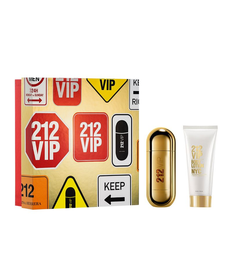Kit Feminino Perfume 212 VIP Eau de Parfum + Loção Corporal 212 VIP Carolina Herrera