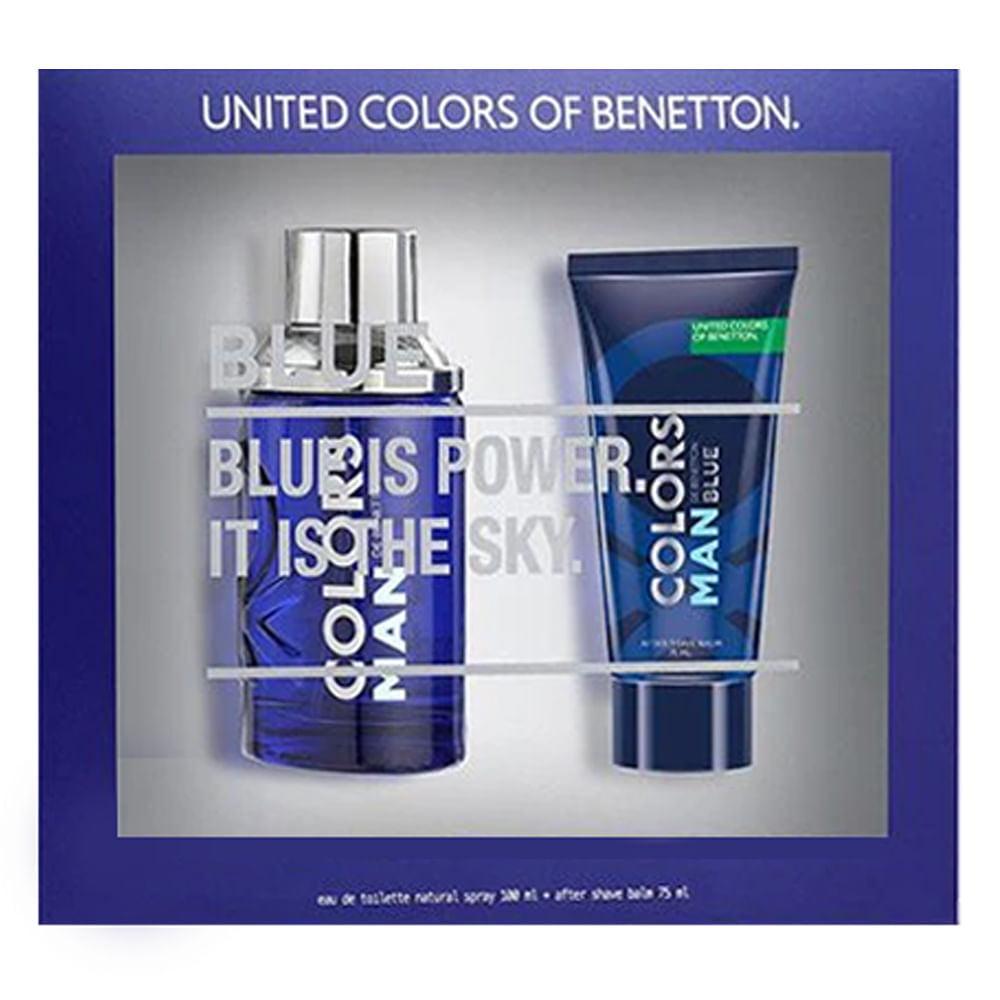 Kit Masculino Perfume Colors Man Blue Eau de Toilette + Pós-Barba Colors Man Blue Benetton