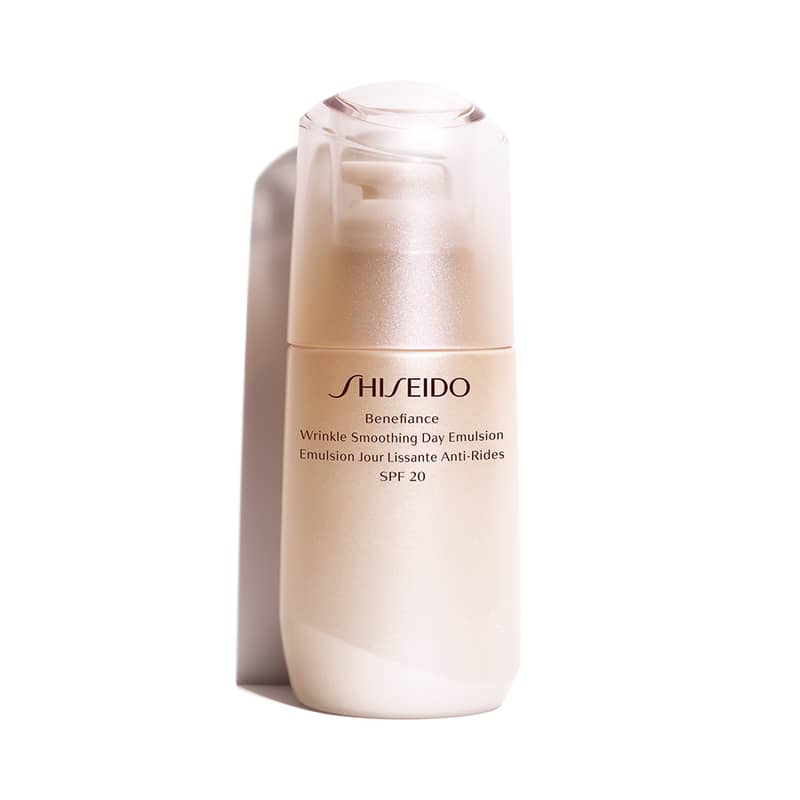 Emulsão Hidratante Facial Diurno Antirrugas Benefiance Wrinkle Smoothing Day Emulsion SPF 20 Shiseido