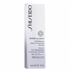 Sérum e Corretivo Clareador White Lucent On Makeup Spot Correcting Serum Shiseido SPF 25 PA+++ 4ml
