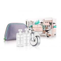 Kit Feminino Perfume Omnia Crystalline Eau de Toilette + Loção Hidratante Omnia Crystalline + Gel de Banho Omnia Crystalline + Necessaire Bvlgari