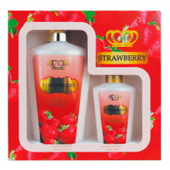 Kit de Hidratantes Strawberry 250ml + Loção Hidratante Strawberry 60ml Love Secret