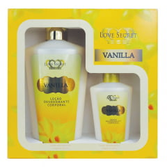 Kit de Hidratantes Vanilla 250ml + Hidratante Vanilla 60ml Love Secret