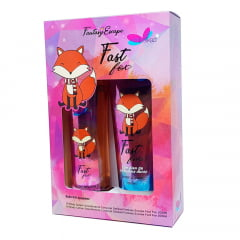 Kit Feminino Body Lotion Fast Fox Delikad + Body Splash Fast Fox Delikad Fantasy Escape