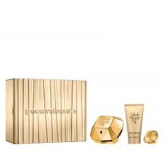 Kit Feminino Perfume Lady Million Eau de Parfum + Loção Corporal Lady Million + Miniatura Lady Million Paco Rabanne