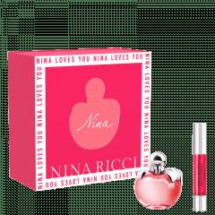 Kit Feminino Perfume Nina Eau de Toilette + Batom Matte Pink Jumbo Nina Ricci