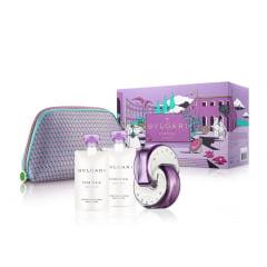 Kit Feminino Perfume Omnia Amethyste Eau de Toilette + Loção Hidratante Omnia Amethyste + Gel de Banho Omnia Amethyste + Necessaire Bvlgari