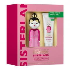 Kit Feminino Perfume Sisterland Pink Raspberry + Loção Corporal Pink Raspberry Benetton