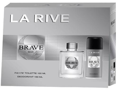 Kit Masculino Perfume Brave Eau de Toilette + Desodorante Brave La Rive