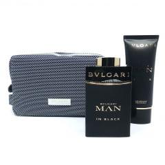 Kit Masculino Perfume Bvlgari Man In Black Eau de Parfum + Pós Barba Bvlgari Man In Black + Necessaire