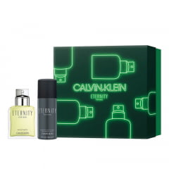Kit Masculino Perfume Eternity For Men Eau de Toilette + Desodorante em Spray Eternity For Men Calvin Klein
