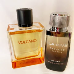 Kit Masculino Prestige Brown The Man La Rive + Volcano New Brand