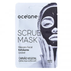 Máscara Esfoliante Scrub Mask Carvão Vegetal Océane